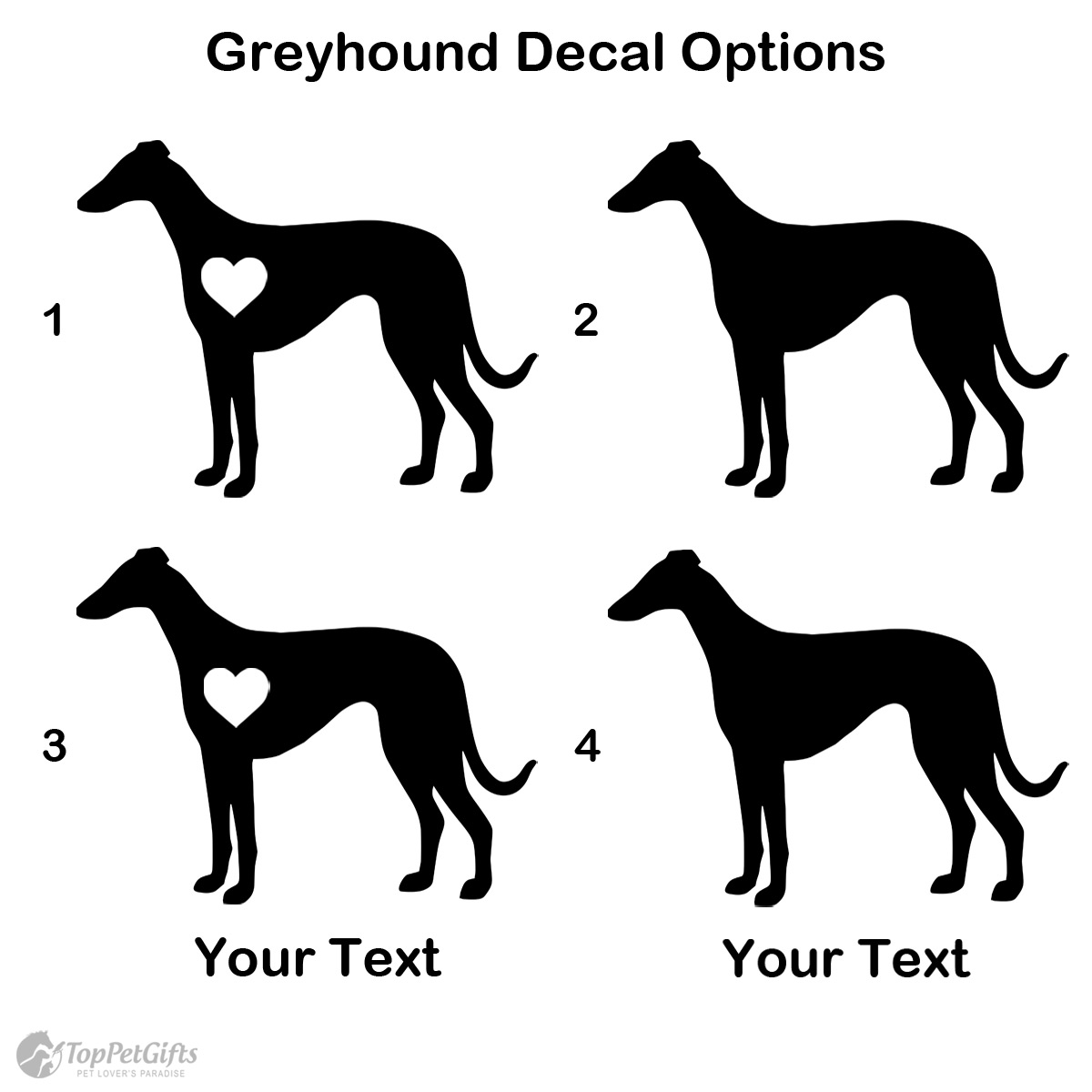Personalized Greyhound Decal
