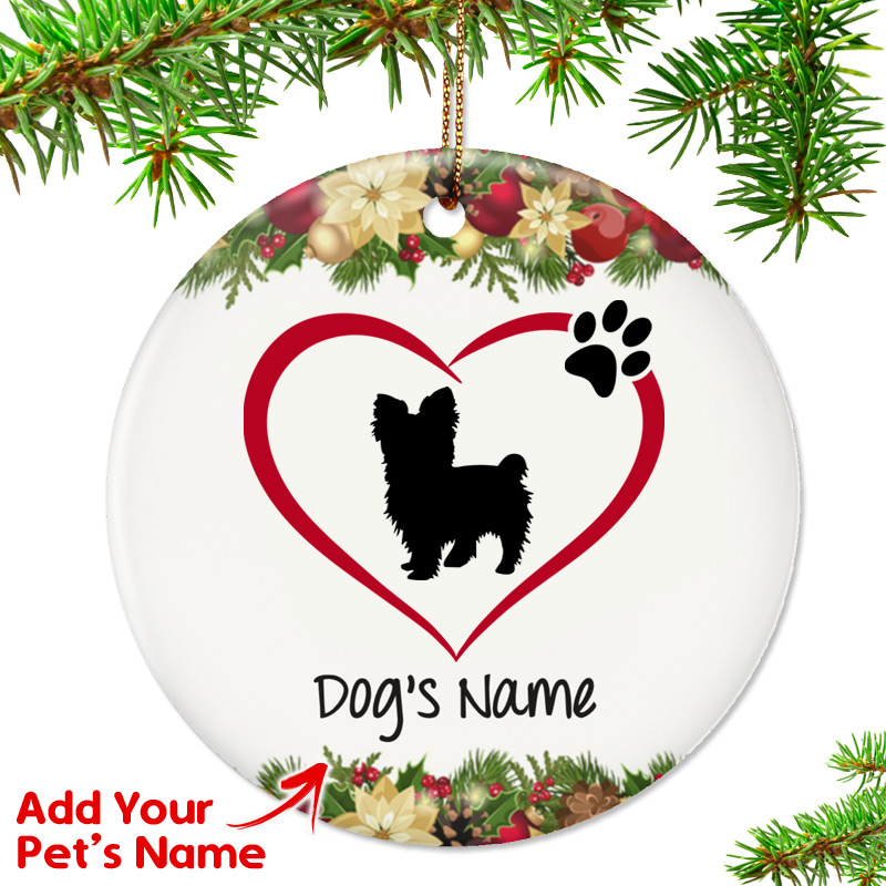 I Love My Yorkshire Terrier Short Hair Ornament Top Pet Gifts