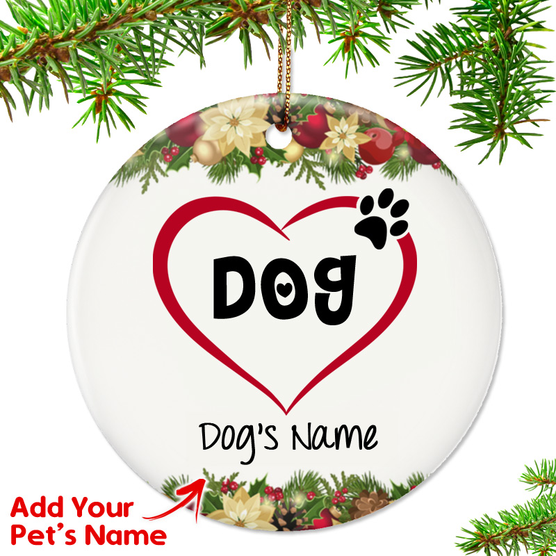 "Personalized ""I Love My Dog"" Ornament"