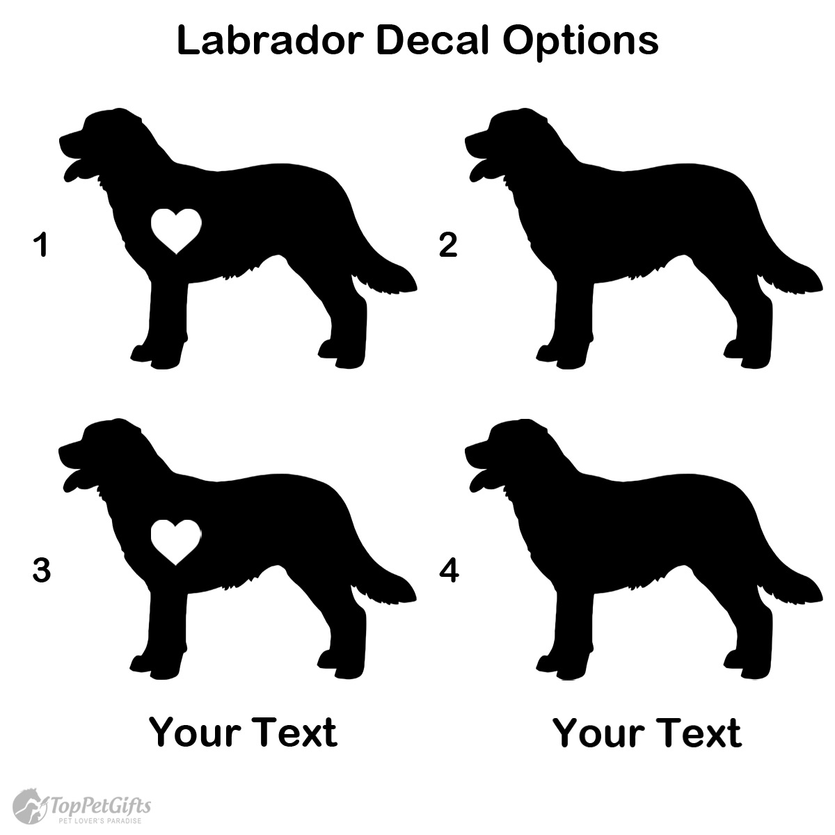 Personalized Labrador Decal