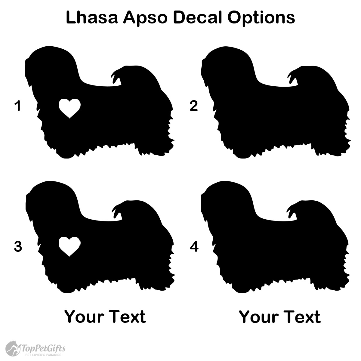 Personalized Lhasa Apso Decal