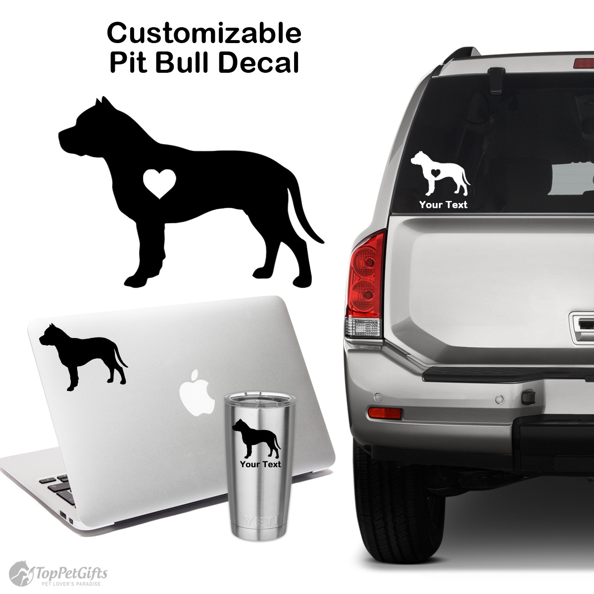 Personalized Pit Bull Decal