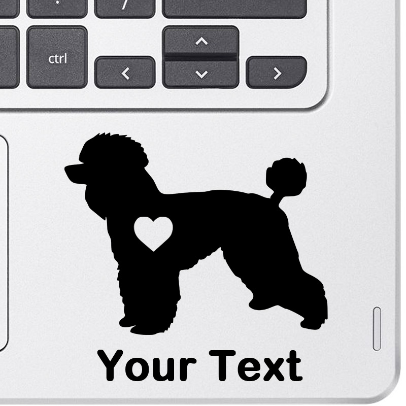 Personalized Poodle Decal