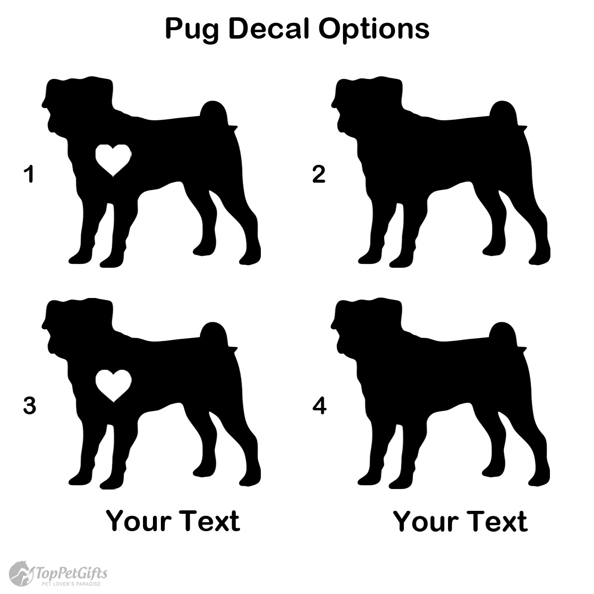 Personalized Pug Decal