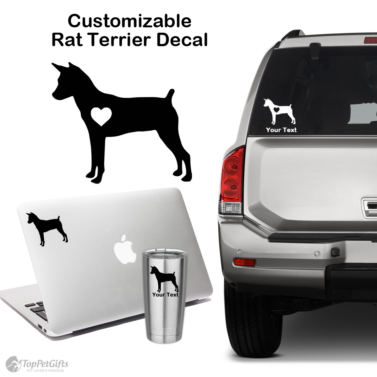 Personalized Rat Terrier Decal