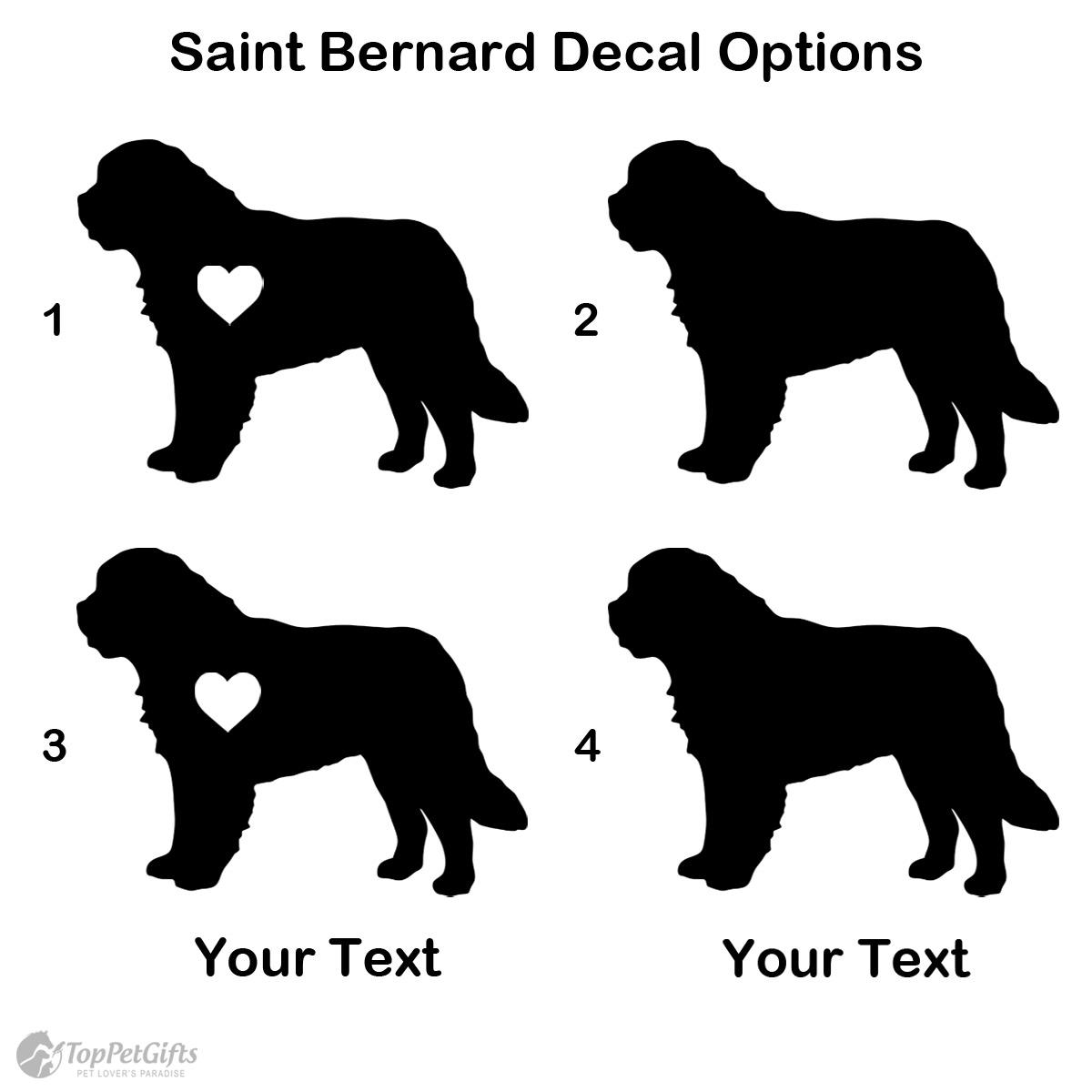 Personalized Saint Bernard Decal