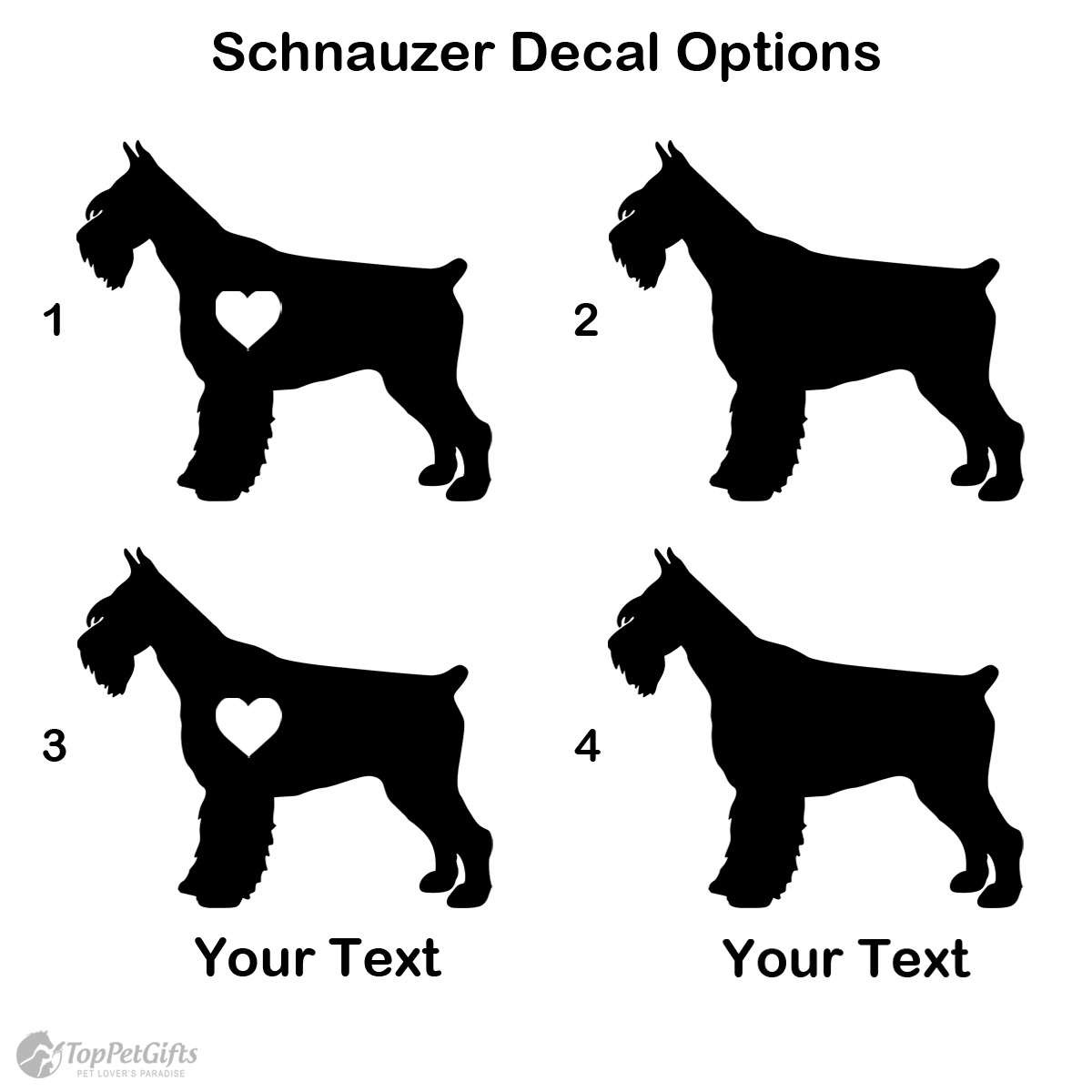 Personalized Schnauzer Decal