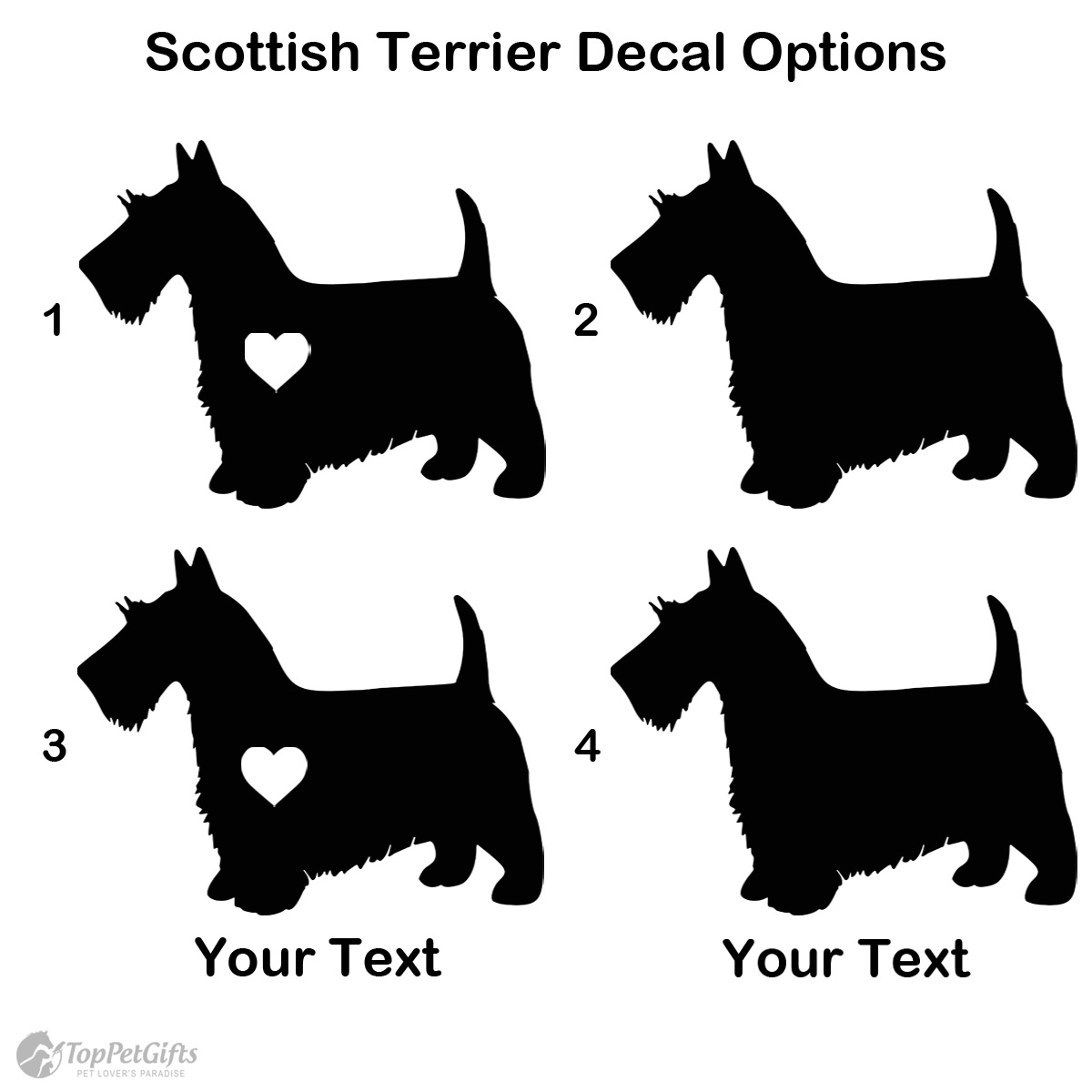 Personalized Scottish Terrier Decal