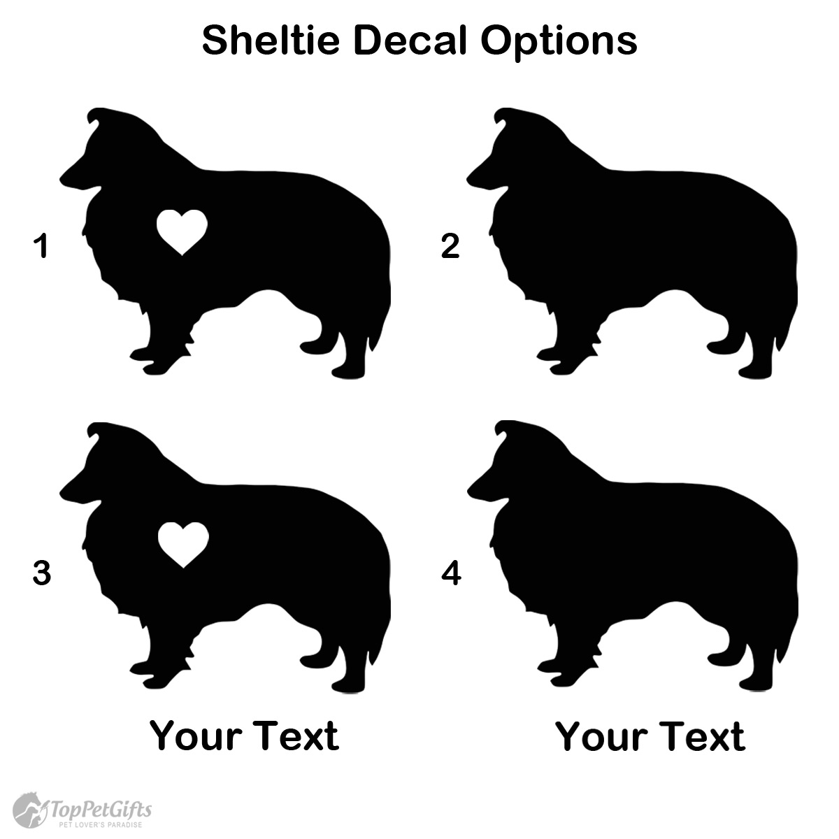 Personalized Sheltie Decal