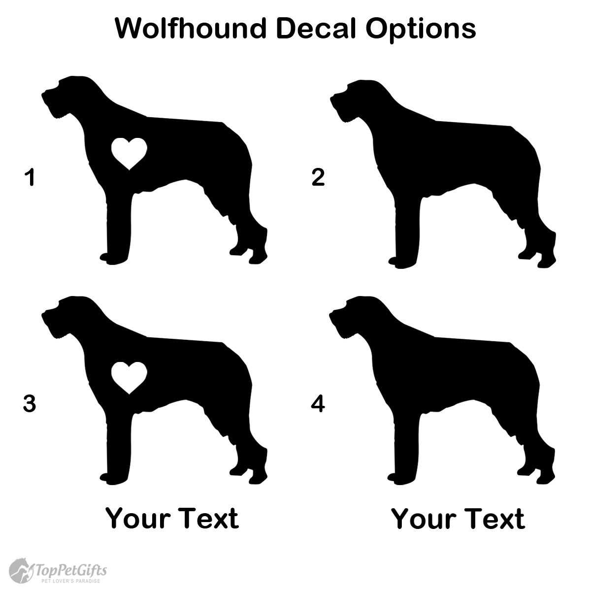 Personalized Wolfhound Decal