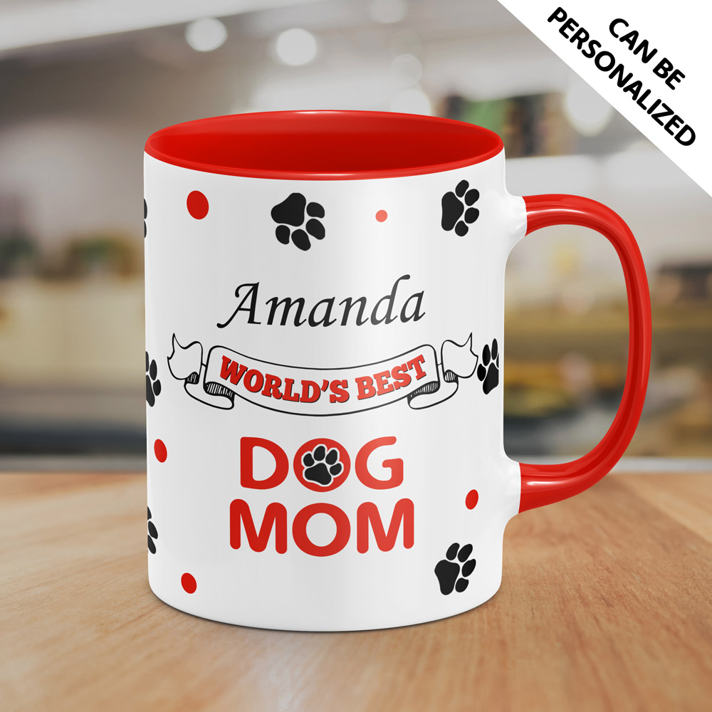 Personalized World's Best Dog Mom Mug