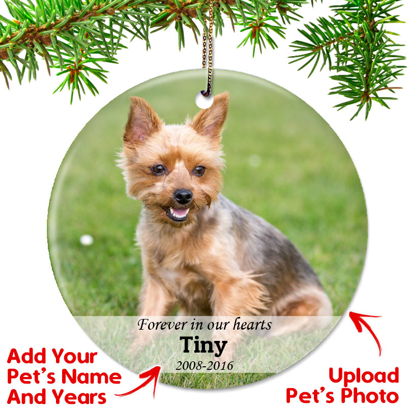 Personalized Pet Memorial Photo Christmas Ornament - Top Pet Gifts
