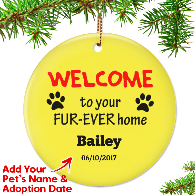 Personalized Welcome To Furrever Home Ornament