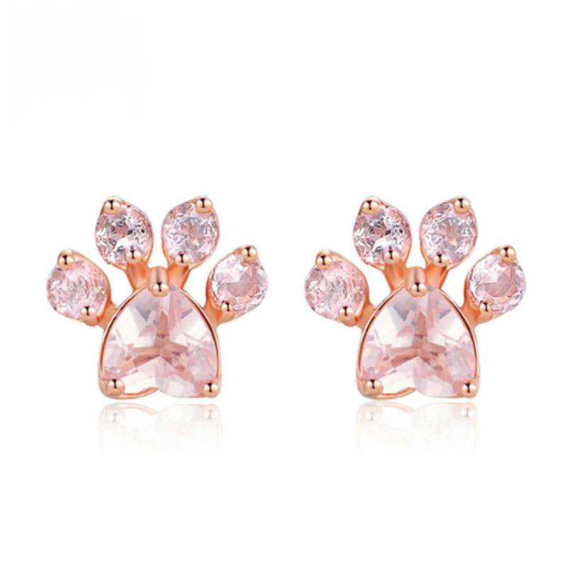 Pink Rose Quartz Earrings