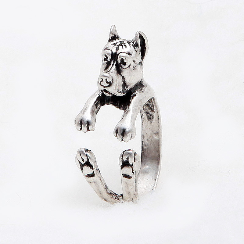 Pit Bull Cropped Ears Adjustable Wrap Ring