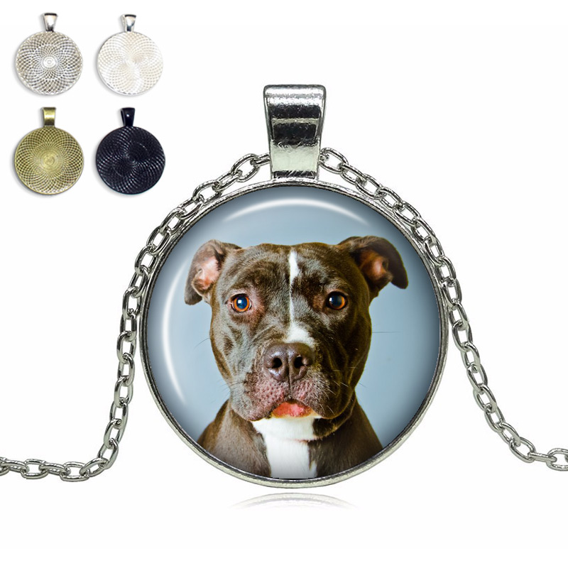 Pit Bull Glass Dome Necklace