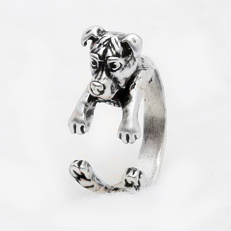 Pit Bull Natural Ears Adjustable Wrap Ring