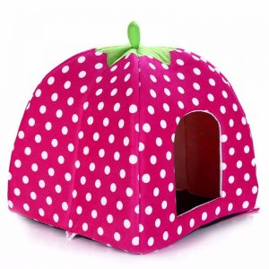 Plush Strawberry Dog House