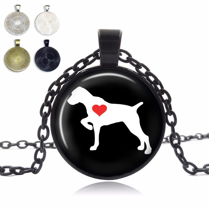 Pointer Love Glass Dome Necklace