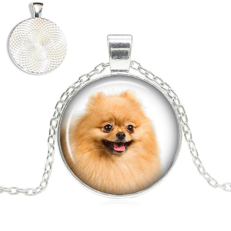 Pomeranian Glass Dome Necklace