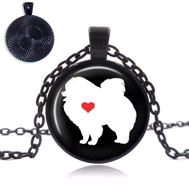 Pomeranian Love Glass Dome Necklace