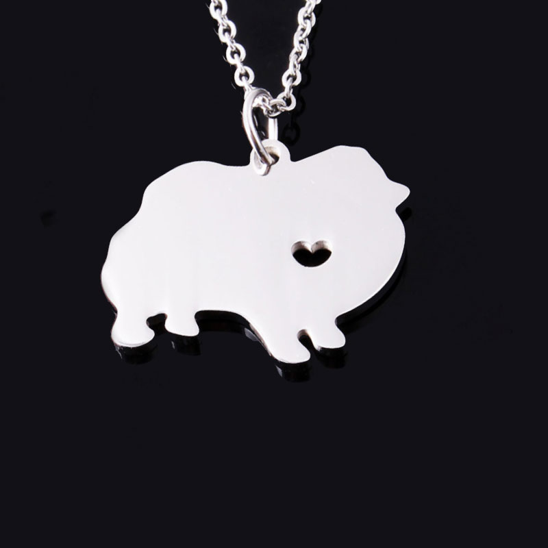 Pomeranian Stainless Steel Necklace