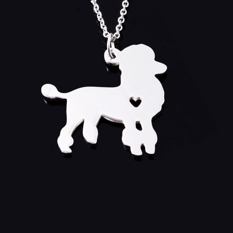 Poodle Stainless Steel Necklace
