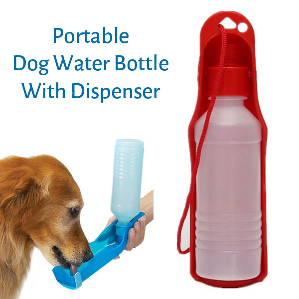 Portable Pet Dog Water Bottle Dispenser