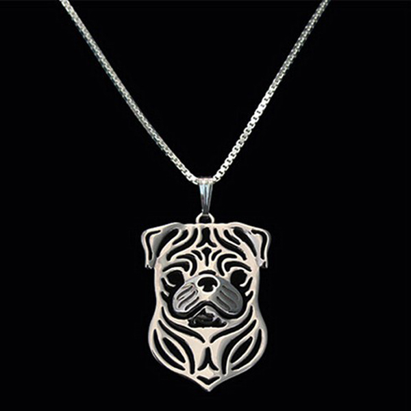 Pug Boho Cutout Necklace