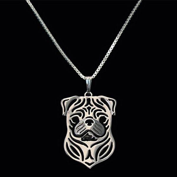 Pug Boho Cutout Necklace