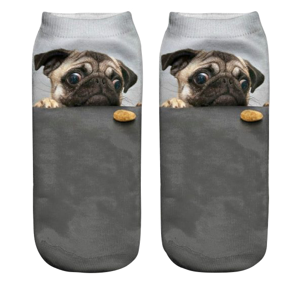 Pug Socks - Cookie