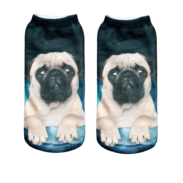 Pug Socks - Galaxy