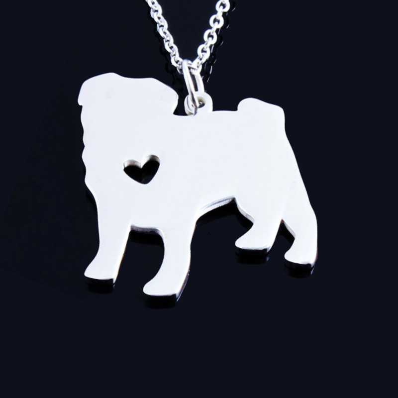 Pug Stainless Steel Necklace