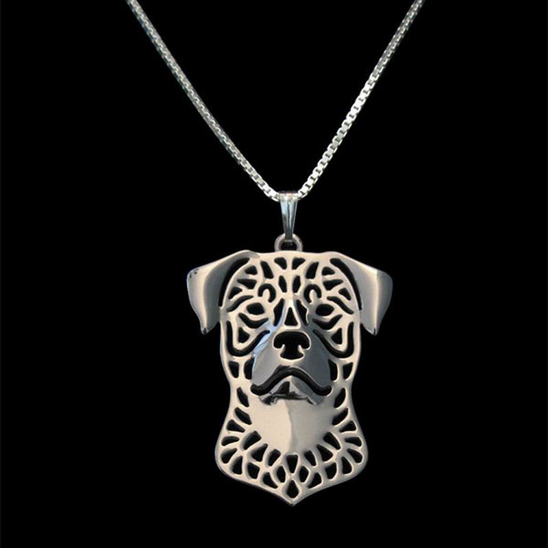 Rottweiler boho cutout necklace