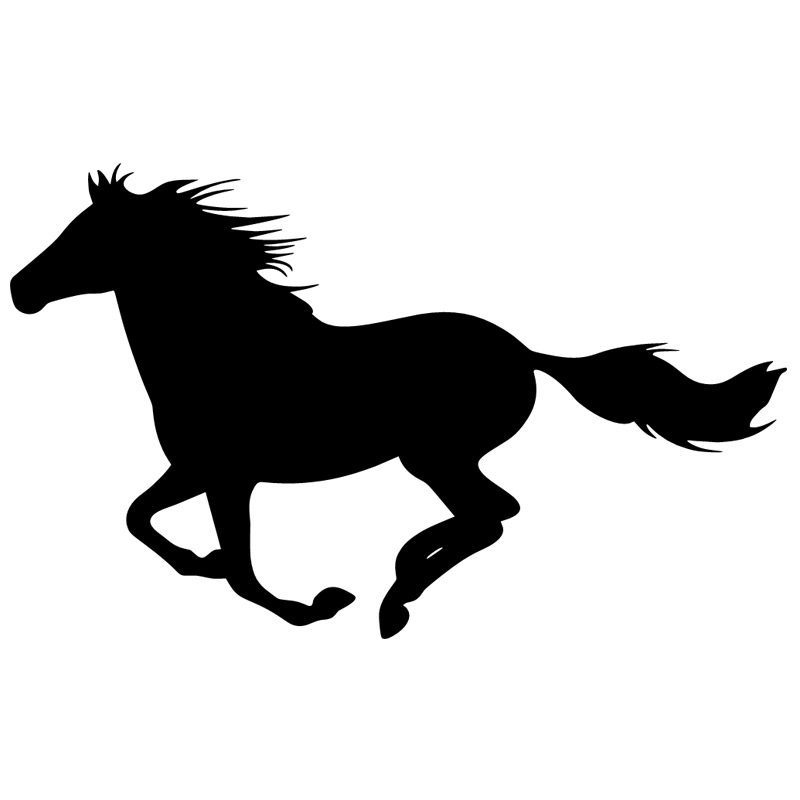Running Horse Silhouette Decal