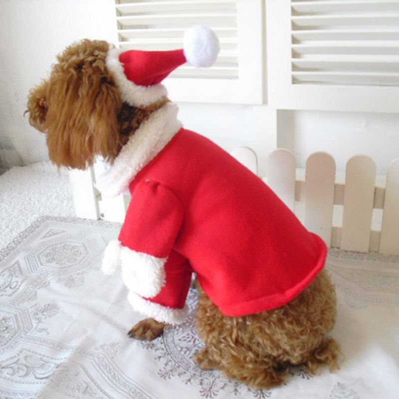 Santa Clause Dog Costume