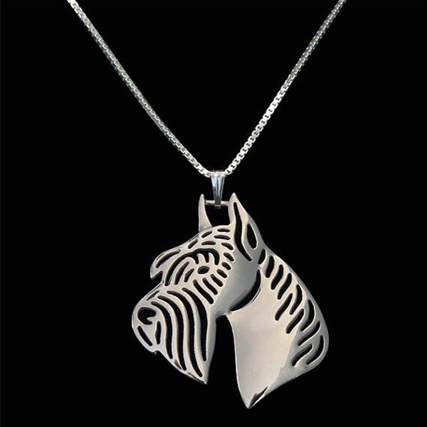 Schnauzer Boho Cutout Necklace