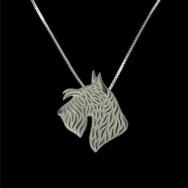Scottish Terrier Boho Cutout Necklace