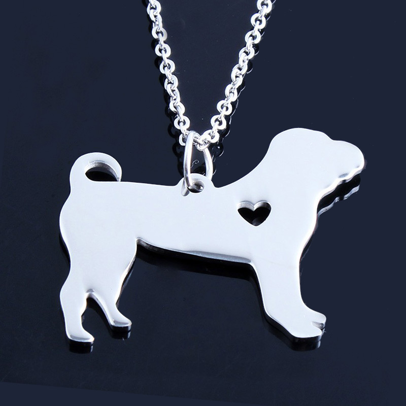 Shar Pei Stainless Steel Necklace
