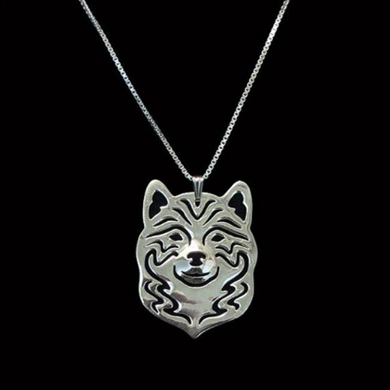 Shiba Inu Boho Cutout Necklace