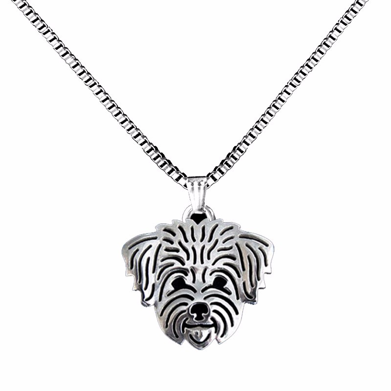 Shih Tzu Boho Cutout Necklace – Short Hair