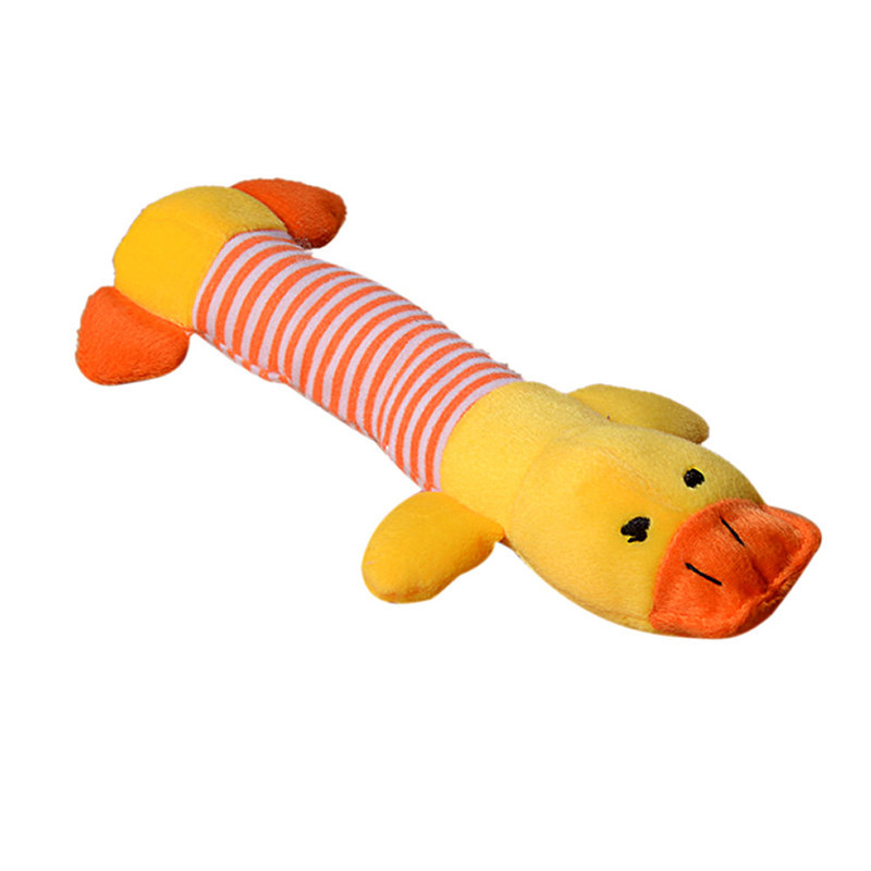 Squeaky Plush Dog Toy - Duck