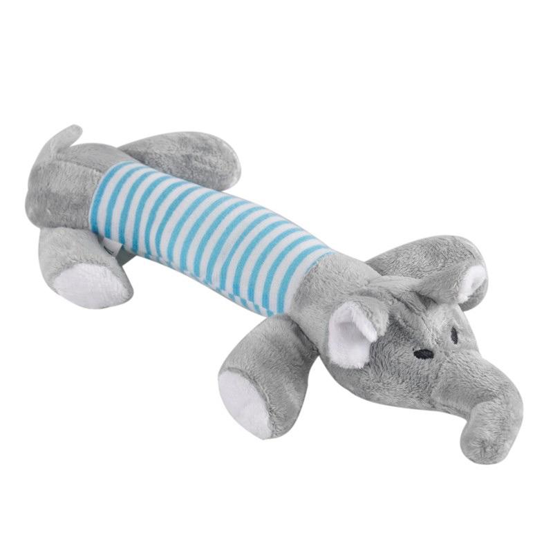Squeaky Plush Dog Toy – Elephant
