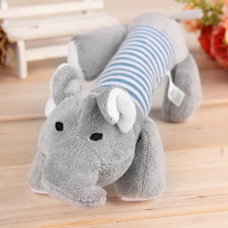 Squeaky Plush Dog Toy - Elephant