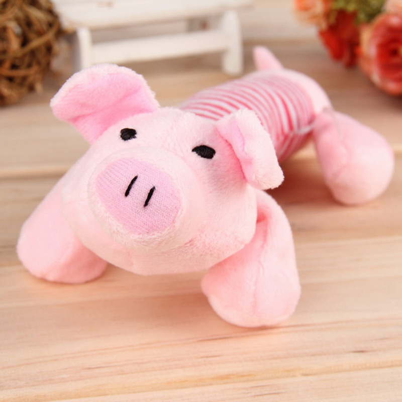 Squeaky Plush Toy Pig