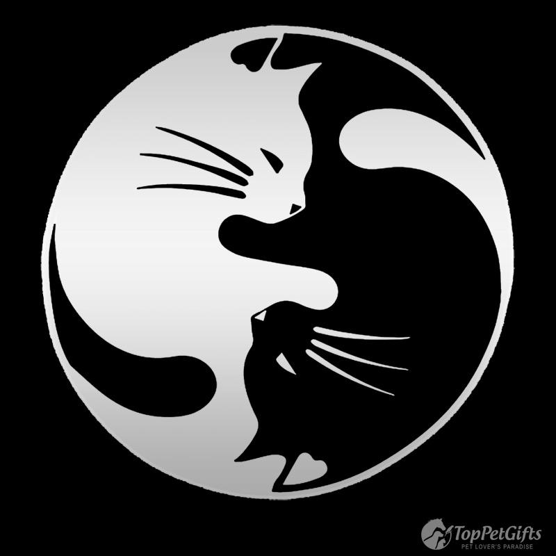 Two Cats Yin Yang Decal