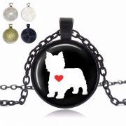 Westie Love Glass Dome Necklace