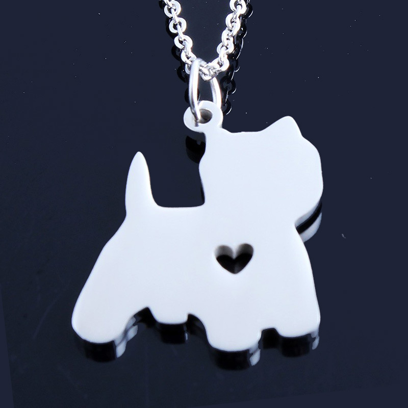 Westie Stainless Steel Necklace