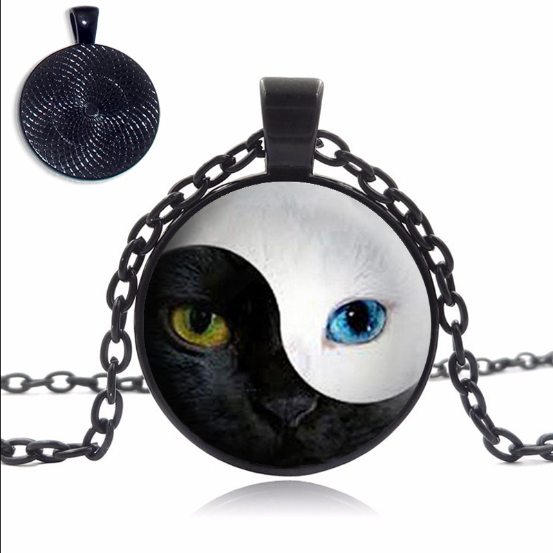 Yin Yang Cat Eye Necklace