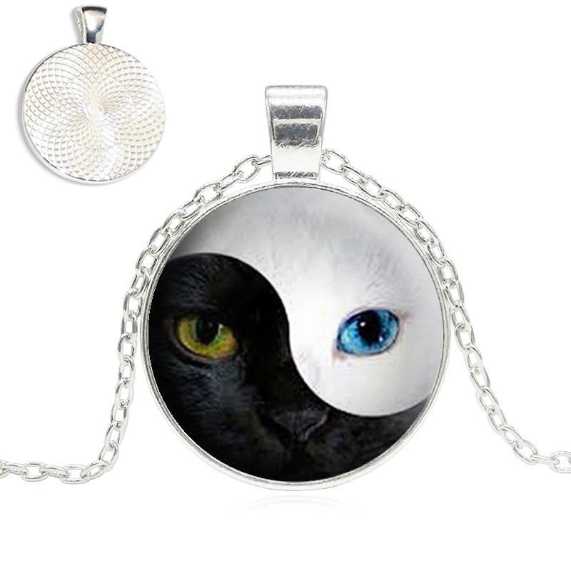 Yin Yang Cat Eye Necklace